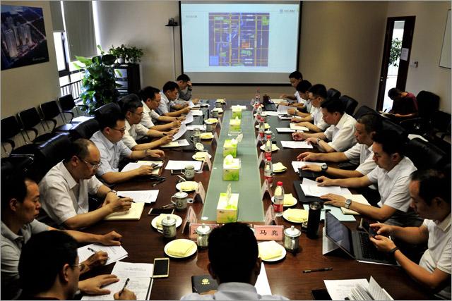 中铁二局董事长、党委书记邓元发一行调研中铁城锦南汇项目